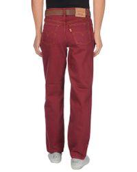 Levi's Purple Denim Pants for men