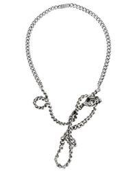 Maison Margiela - Metallic Necklace - Lyst