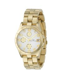 Marc By Marc Jacobs Metallic Mbm3039 Women'S Henry Round Dial Chronograph Bracelet Watch