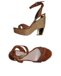 Miu Miu   Brown Platform Sandals   Lyst