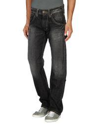 Pepe Jeans Black Denim Trousers for men