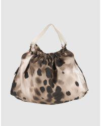Sissi Rossi Brown Large Fabric Bag