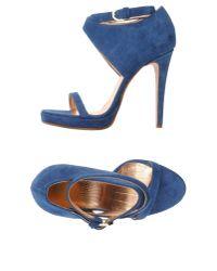 Viktor & Rolf - Blue Platform Sandals - Lyst