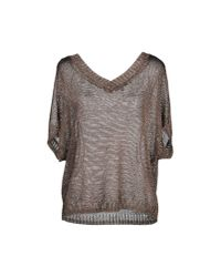 VINCE | Metallic Double V-back Sweater | Lyst