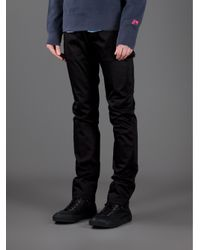 Acne Studios Black Roc Satin Trouser for men