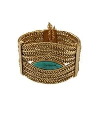 Aurelie Bidermann - Metallic Sunset Cuff with Turquoise - Lyst