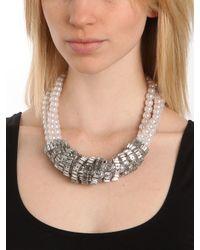 BaubleBar - Metallic Pearl Wrap Collar - Lyst