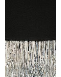 Elizabeth and James Black Fitzgerald Fringed Silkcrepe Skirt