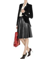McQ Black Velvet Tuxedo Jacket