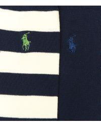 Polo Ralph Lauren   Blue Pony Logo Socks 2 Pack for Men   Lyst