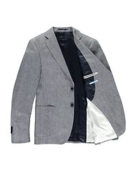 Tommy Hilfiger Gray Woven Two Button Notch Lapel Jacket for men