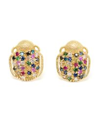 Carolina Bucci | Metallic Scarab Beetle 18k Gold Earrings | Lyst