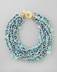 Devon Leigh - Metallic Pearl Chalcedony Necklace - Lyst