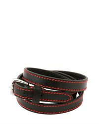 Dior Homme | Red Triple Wrap Leather Bracelet for Men | Lyst