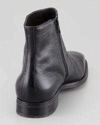 Gravati Black Dress Leather Ankle Boots for men