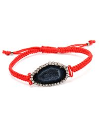 Kimberly Mcdonald - Red Geode and Kabbalah Macramã Bracelet - Lyst