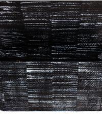 Pierre Hardy Gray Leopard Print Suede Shoulder Bag