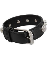 Saint Laurent - Metallic Studded Leather Bracelet for Men - Lyst