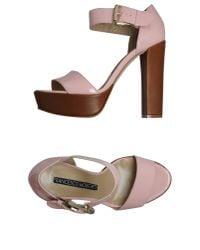 Francesco Morichetti - Pink Platform Sandals - Lyst
