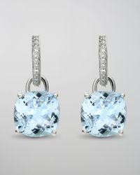 Kiki McDonough - Blue Eternal 18k White Gold Topaz Diamond Earrings - Lyst