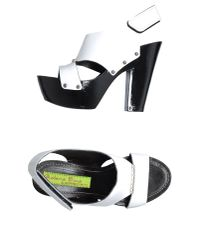 Materia Prima By Goffredo Fantini White Platform Sandals