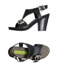 Materia Prima By Goffredo Fantini Black Platform Sandals