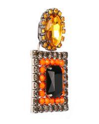 ASOS | Orange Square Drop Earrings | Lyst