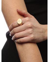 BaubleBar Metallic Monogram Signet Ring