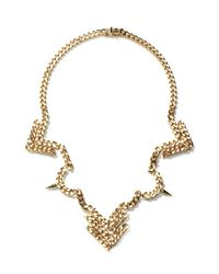 Fallon | Metallic Area Bib Necklace | Lyst