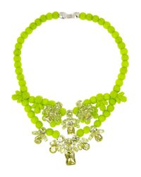 EK Thongprasert - Green Silicone and Cubic Zirconia Necklace - Lyst