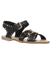 KG by Kurt Geiger Black Marcella Summer Sandals