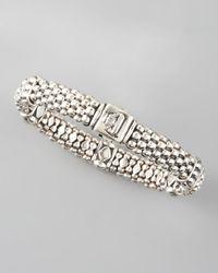 Lagos | Metallic Caviar Rope Station Bracelet | Lyst