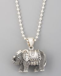 Lagos | Metallic Rare Wonders Elephant Pendant Necklace | Lyst
