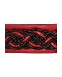 Maria Rudman | Embroidered Leather Bracelet | Lyst