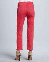 NYDJ Red Pastel Alisha Ankle Pants