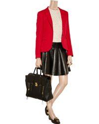 Rag & Bone Red Bailey Cotton and Linen Blend Blazer