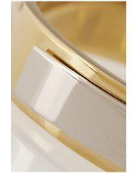Saint Laurent Metallic Gold-Plated Sterling Silver Plaque Bracelet