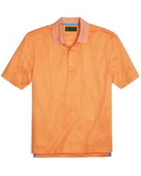 Brooks Brothers | Orange St Andrews Links Printed Polo Shirt for Men | Lyst
