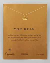 Dogeared - Metallic Infinite Love Gold-dipped Infinity Necklace - Lyst