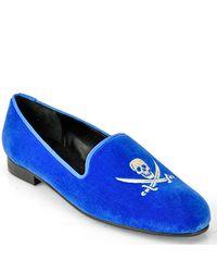 Jon Josef | Gskull Blue Velvet Loafer | Lyst