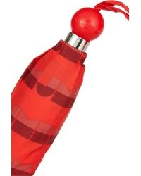 Marc By Marc Jacobs Red Mbmj Logo Print Umbrella