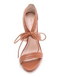Pour La Victoire Brown Shanna Lace Up Sandals
