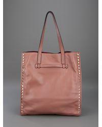 Valentino | Pink Rockstud Tote | Lyst