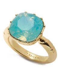 COACH | Metallic Cushion Stone Ring | Lyst