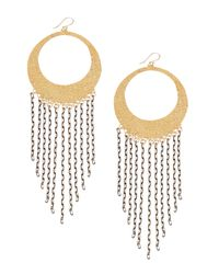 Devon Leigh | Metallic Sweepy Chain Hoop Earrings | Lyst