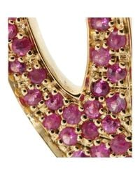 House of Waris - Purple 18kt Gold Drop Spike Earrings With Pavé Pink Sapphires - Lyst