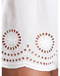 John Lewis - White Classic Cutwork Pyjama Shorts - Lyst