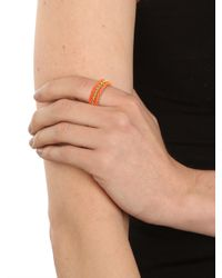 BaubleBar | Orange Tangelo Twist Ring Trio | Lyst