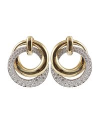 David Webb - Metallic Diamond Earrings - Lyst