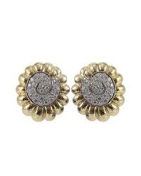 David Webb - Metallic Diamond Swirl Earrings - Lyst